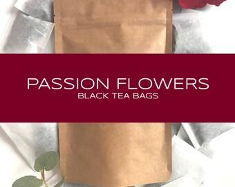 Passion Flowers Blended Black Tea Bags