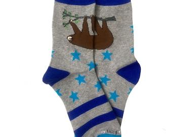 Sweet Cute Animal Populai Lazy Sloths Crazy Dress trouser Sock For Men Women