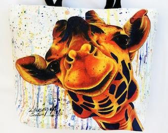 Giraffe Tote Bag - Nosey Rosey