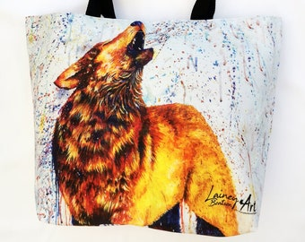 Wolf Tote Bag- Wolf Cry