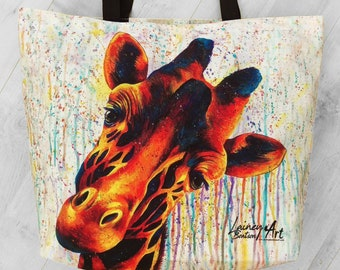 Giraffe tote bag - Befuddled