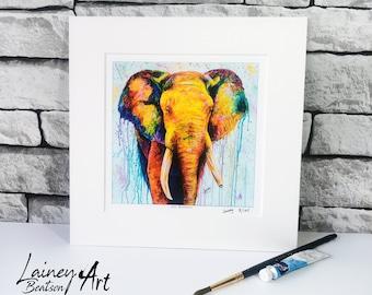 Elephant Print, Elephant , Elephant artwork, Elephant wall hanging