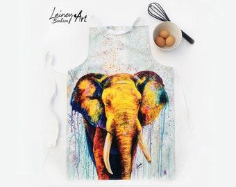 African Elephant Adult Apron- Soul Wandering