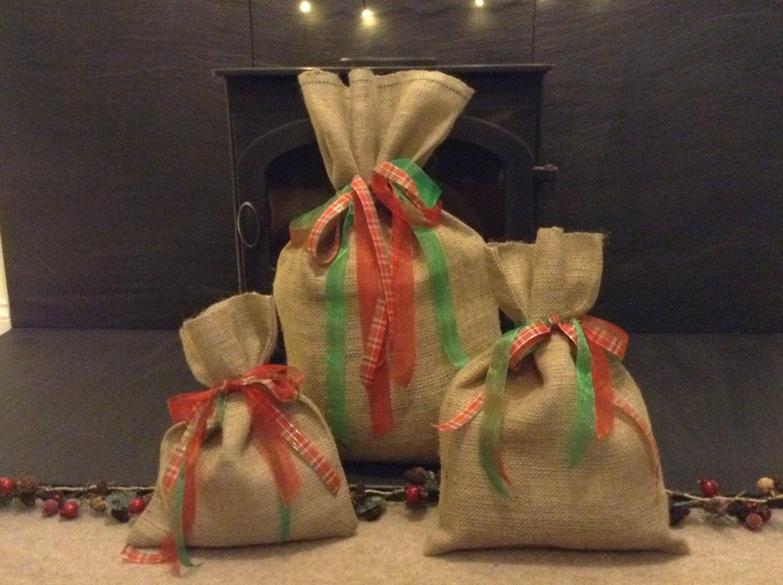 Extra Small Small   Medium Hessian Sacks Gift Bags  135ab550020c