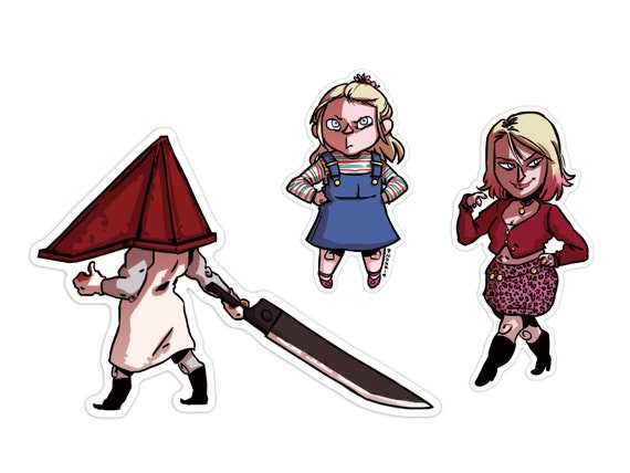 Silent Hill 2 Spooky Cute Pyramid Head Vinyl Stickers Pack Etsy