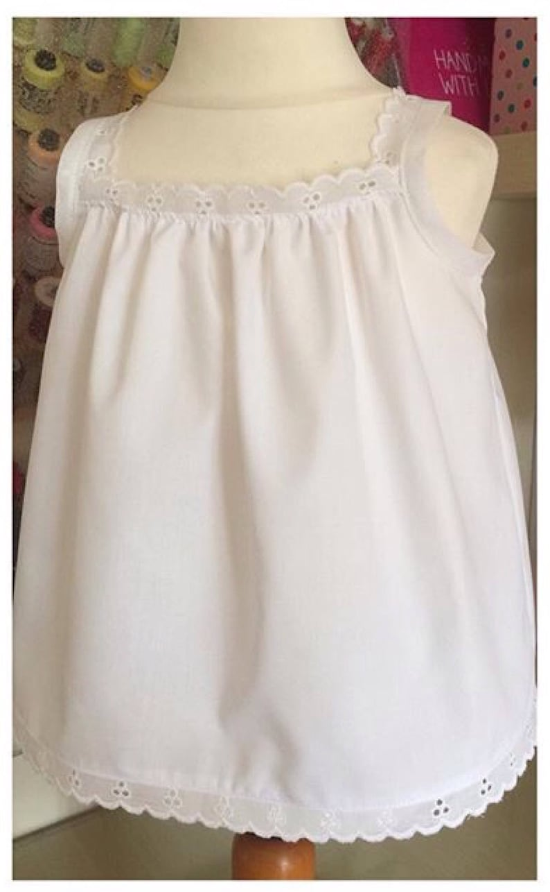 be57f668a Handmade Sun Top Girl's Sweet Summer Sun top with Broderie Anglaise trim