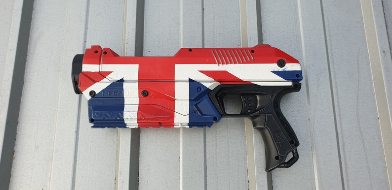 Union Jack Custom Painted Nerf Pistol  Still fires image 0