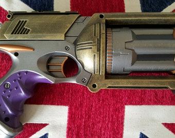Fallout  / Bioshock Infinite / Steampunk Inspired Steel Effect Nerf Pistol - Still Fires!