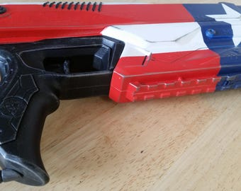 The Patriot American Flag Themed Nerf Pistol - for display or nerf battle!