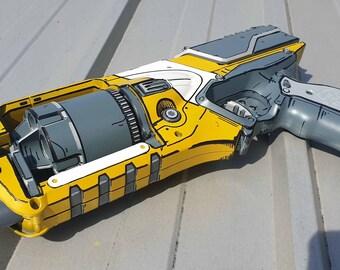 Cel Shaded Borderlands Inspired Nerf Strongarm Cosplay/Display Pistol - Still fires!