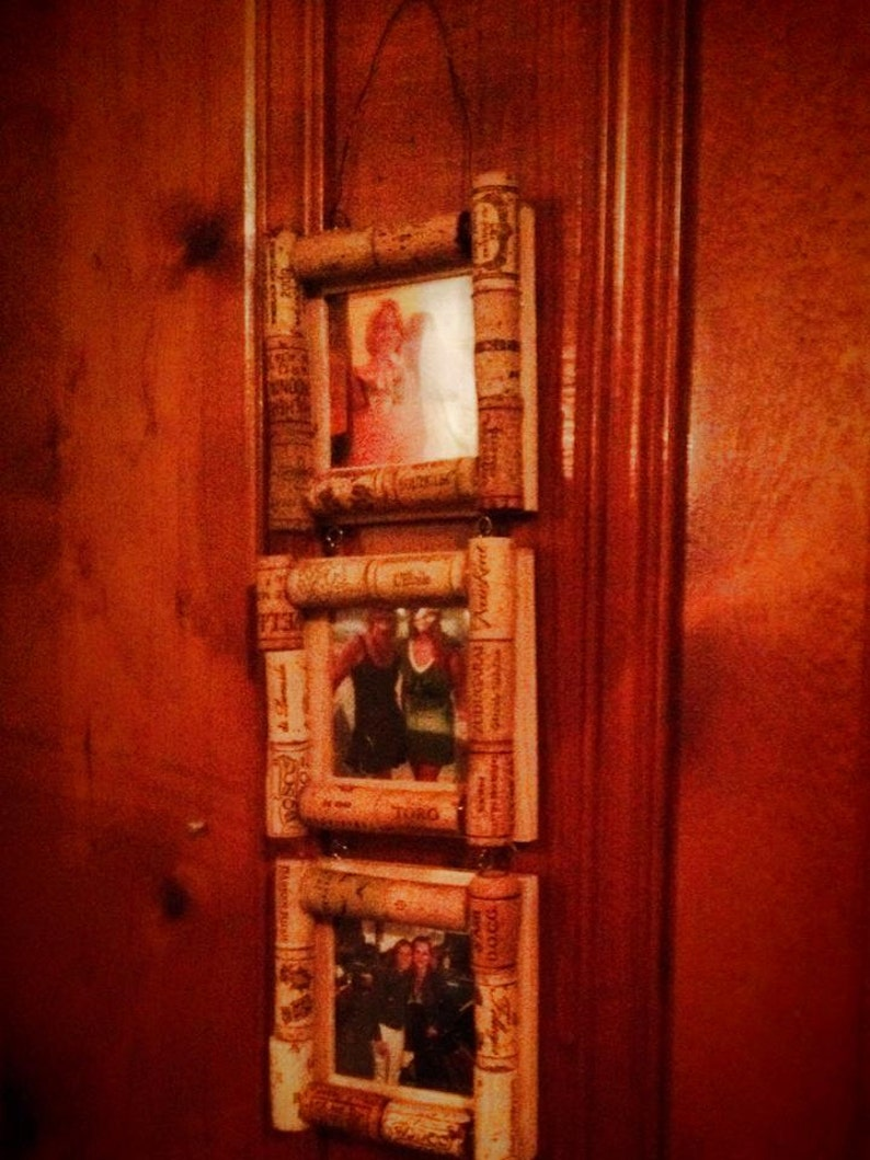 Wooden Corked Picture Frame Trio