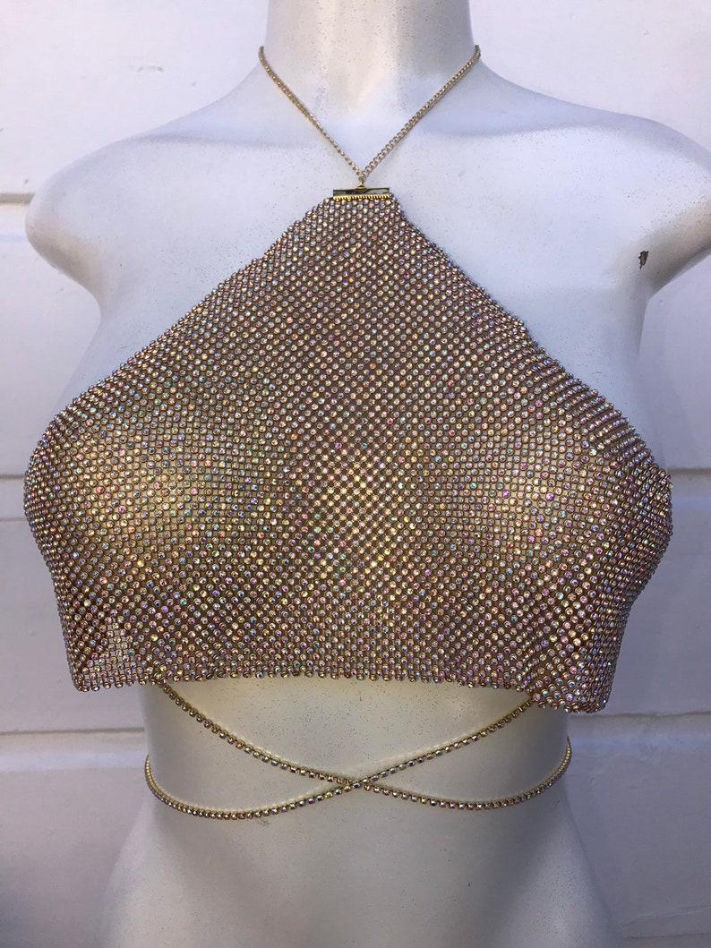 d33f2a6248239 Halter crystal bralette bralette jewelry bikini body
