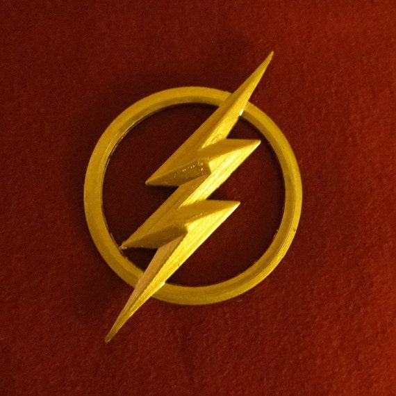 Flash Costume 3D Printed Lightning Bolt Emblem Prop For