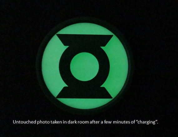 Green Lantern 3d Printed Chest Emblem Glow In The Dark Prop Etsy