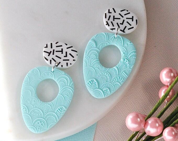 Embossed Pastels: Chunky Teardrops