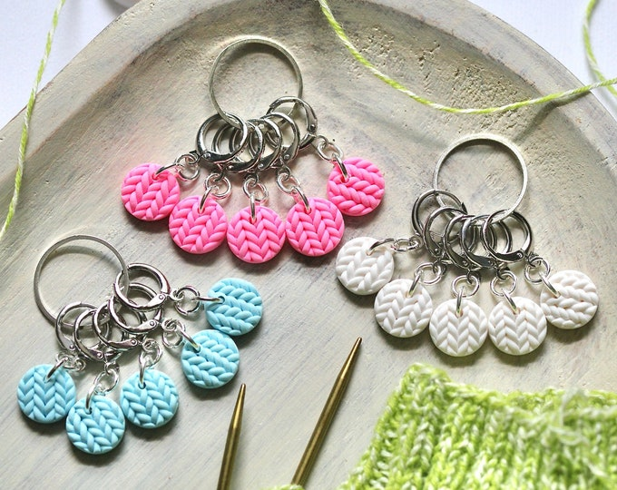 Stitch Markers: Summer Sweater Colors