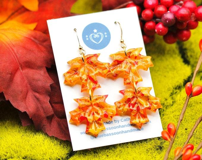 Fall Foliage: Double Maple Leaves