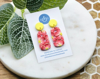 Pink Flowers: Mod Dangles