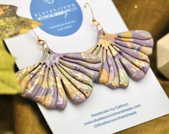 Purple Ginkgo Leaves