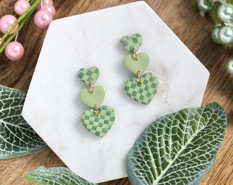 Green Checks: Triple Hearts