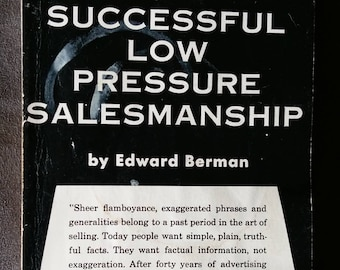 Successful Low Pressure Salesmanship by Edward Berman 1969 Paperback - Free Shipping