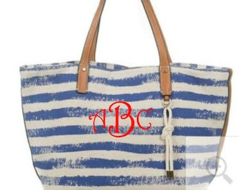 Blue Monogrammable 2-IN-1 Canvas Bag