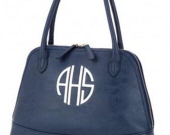 Monogram Navy Sydney Leather Purse