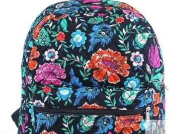 Monogram Floral Quilted Backpack