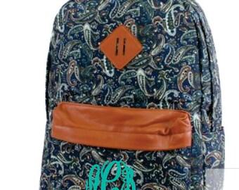 Monogram Light Weight Nylon Paisley Backpack