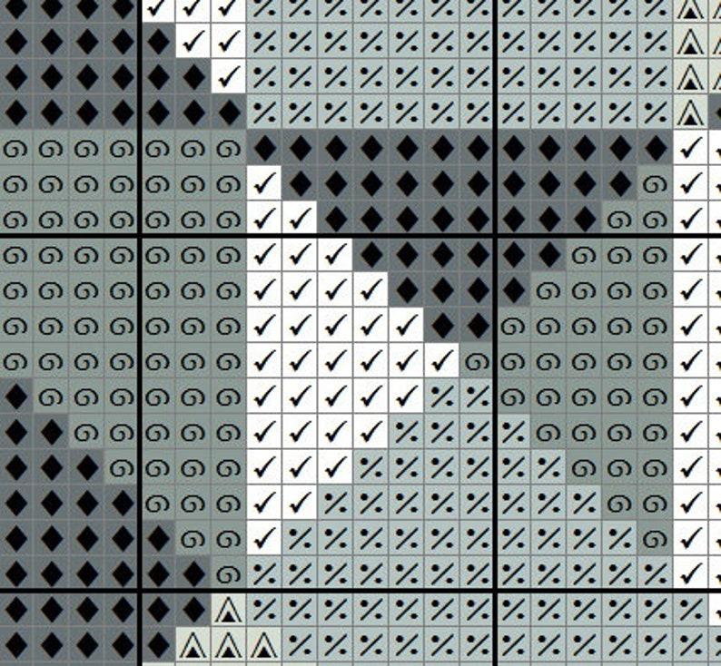 Game of Thrones cross stitch pattern GET 1 FREE Black Raven cross stitch pattern Instant Download #P345 Geometric cross stitch BUY 2