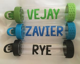 Vinyl Decal DIY Name for drink bottle, First Name ONLY