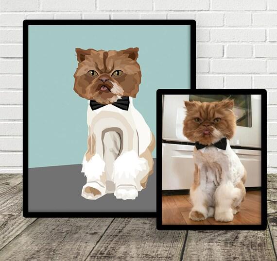 Custom Pet Illustration | FULL BODY IMAGE | Drawn From Photo