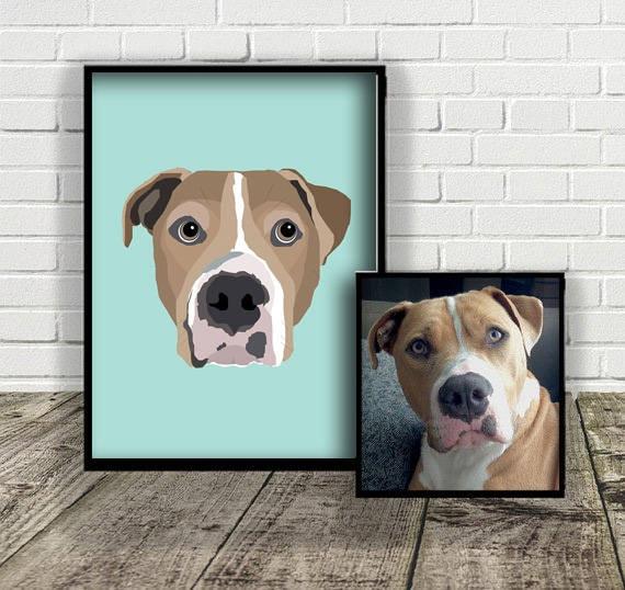 Custom Dog Illustration | Print at Home | Drawn From Photo