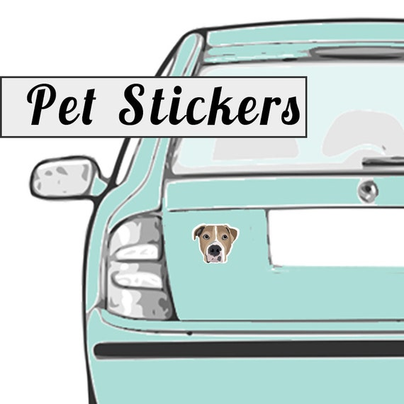 Custom Pet Stickers | Set of 50 | Drawn from Photo