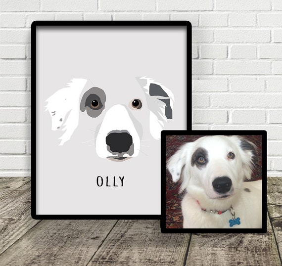 Classic Style Custom Pet Illustration | Print at Home | Drawn From Photo