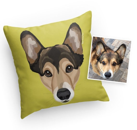 Custom Pet Pillow | Drawn from Photo