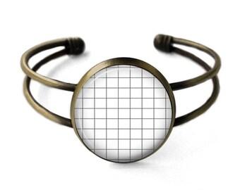 Aesthetic Grid Cuff Bracelet | Grid Bracelet, Bangle, Aesthetic Bracelet, Grunge Jewelry, Geometric Jewelry, Seapunk, Vaporwave