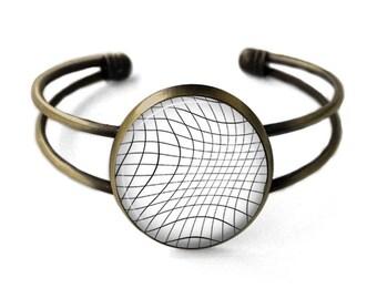 Grid Cuff Bracelet | Bangle, Aesthetic Bracelet, Grid Bracelet, Grunge Jewelry, Geometric Jewelry, Seapunk, Vaporwave