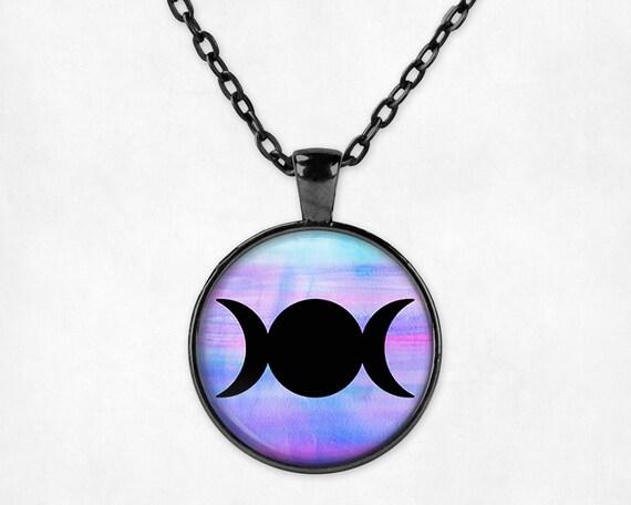 collier lune noir