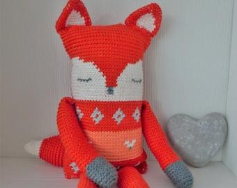 Crochet pattern stuffed toy fox (English US)