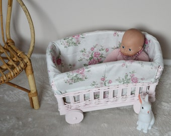 Rattan baby bed etsy