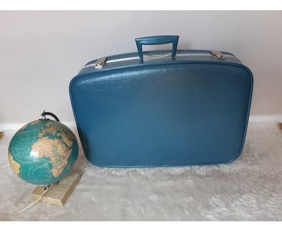 "Vintage ""hostess"" blue, suitcase, great model"
