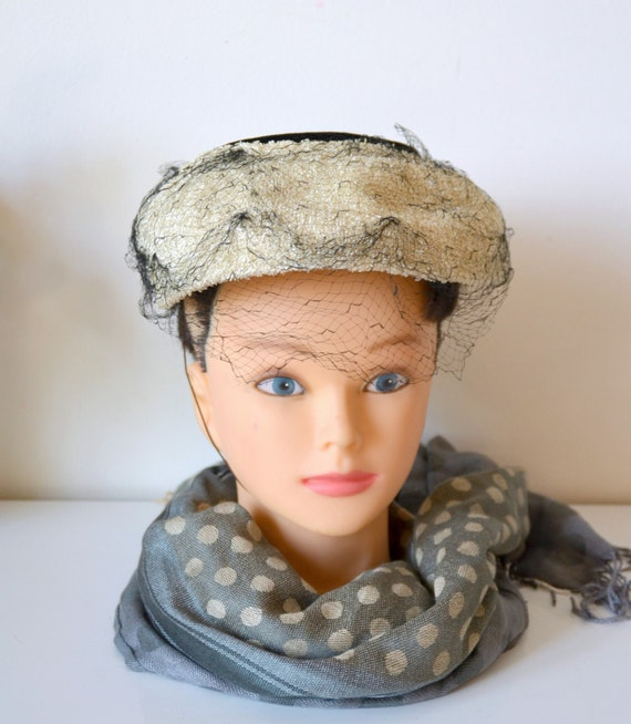 Vintage 50 s woman hat hat fascinator  aa056221ee4