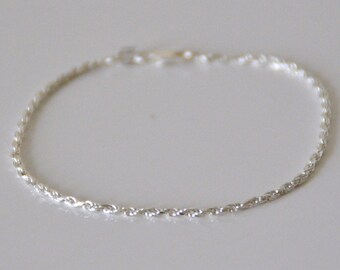 BRACELET in Silver 925/1000, twisted chain, 6 g