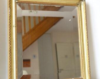MIROIR en bois doré, rectangulaire , 44 cm, miror,