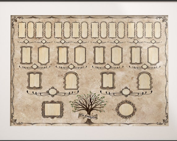 Family Tree, 4 Generation Pedigree, YOU PRINT, 13x19, Ancestry Gift, Ancestry, Family Record, Heritage Document, Ahnentafel Chart - FT105
