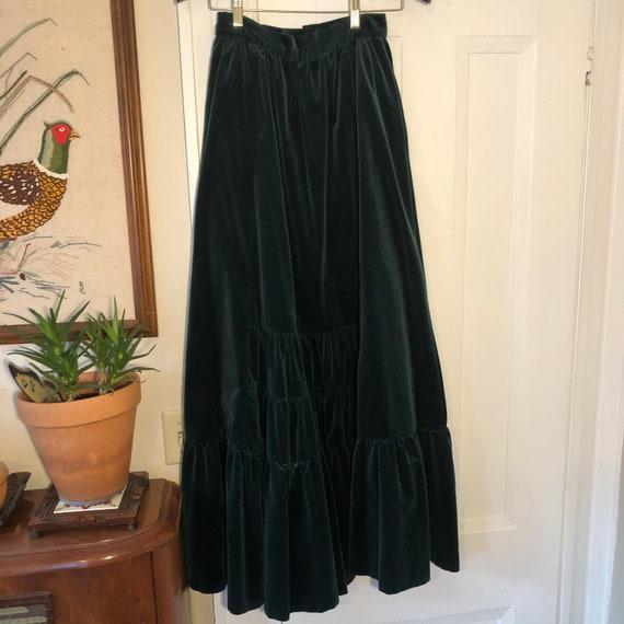 Gunne Sax velvet maxi skirt