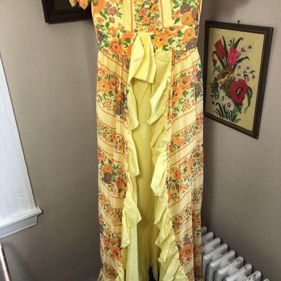 Handmade Gunne Sax Style floral dress - image 4