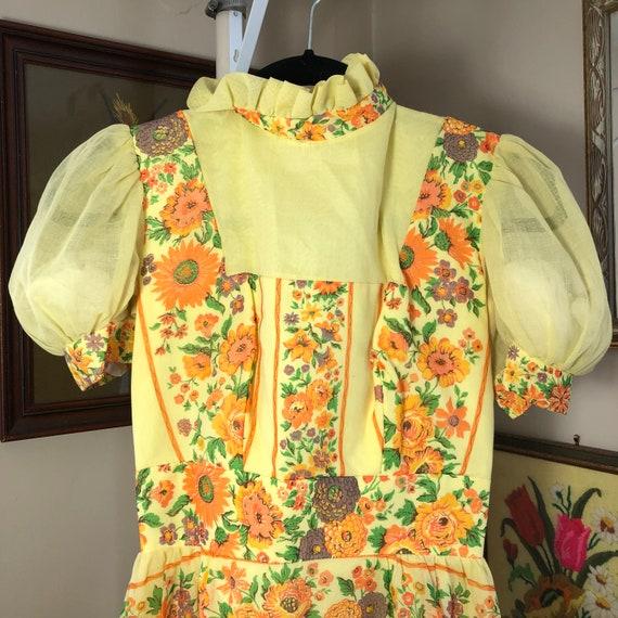 Handmade Gunne Sax Style floral dress - image 2
