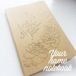 Custom Own Name Moleskine Cahier Sketchbook, Beige Pocket Size, Small Plain Page Notebook, Journal, Personalized Name Artwork